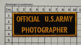 WO2 US Army Official U.S. Army Photographer embleem - 3,8 x 10,2 cm - replica