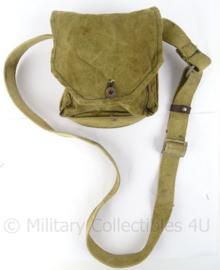 Russische ? veldfles tas - Antiek - 17 x 17 cm - origineel