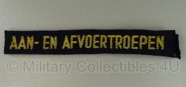 Straatnaam set Nederlandse leger - Aan- en Afvoertroepen - origineel