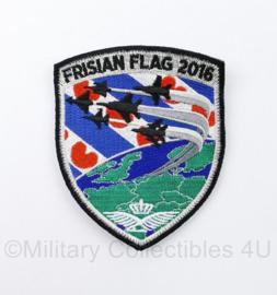 KLU Luchtmacht embleem Frisian Flag 2016 - met klittenband - 10 x 8,5 cm - origineel