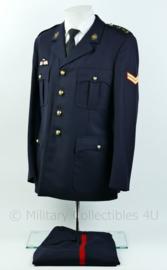 Korps Mariniers Barathea uniform set met insignes en parawing  - rang Korporaal - maat 50 - Origineel