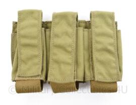 Eagle Industries Triple 40 MM pouch MOLLE coyote ook voor de Glock17 magazijnen - maker Eagle Industries - 18 x 12 x 3 cm - origineel