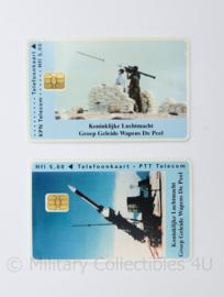 KLU Luchtmacht GGW Groep Geleide Wapens de Peel belkaart set - 8,5 x 5 cm - origineel