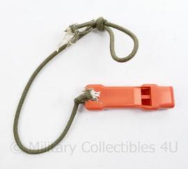 Defensie en KLU Luchtmacht Noodfluit emergency whistle oranje - origineel