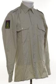 Korps Mariniers overhemd lange mouw met embleem - ongedragen - maat 41-5 - origineel