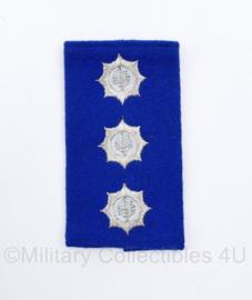 Korps Rijkspolitie ENKELE epaulet - Officier 1e klasse - 10 x 5,5 cm -  origineel