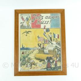 Wo2 1945 Frans pamflet in lijst- 44,5x33,5x1 cm  - Replica