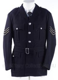 """Britse Politie uniform jasje 767 , zwart- antiek model - rang """"sergeant"""" - maat M - origineel"""