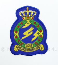 KLU Luchtmacht RNLAF 328 Squadron embleem - concordia omnia vincit - 13 x 9 cm  - origineel