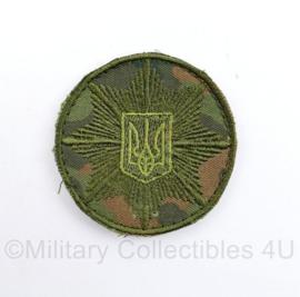 Oekraïense leger embleem - met klittenband - diameter 6 cm - origineel