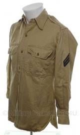 US Army Enlisted Khaki Shirt - corporal - size XS - origineel korea en vietnam oorlog