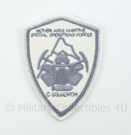 Korps Mariniers Netherlands Maritime Special Operations Forces C Squadron embleem - met klittenband - 8 x 6 cm
