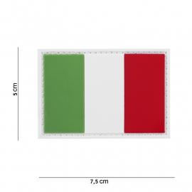 Uniform landsvlag Italie embleem 3D PVC -  klittenband - 7,5 x 5  cm