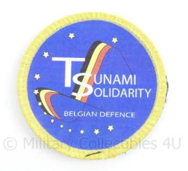 ABL Tsunami Solidarity Belgian Defence  embleem met klittenband - diameter