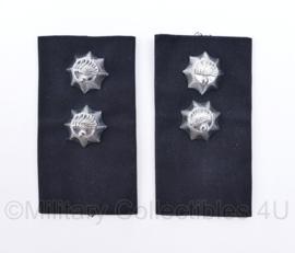 Korps Rijkspolitie epauletten PAAR - Officier 2e klasse -  10 x 5,5 cm - origineel