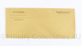 Wo2 US War Department Envelop - origineel