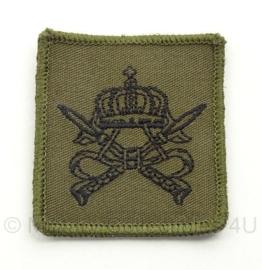 KMS Koninklijke Militaire School borst insigne - met klittenband - origineel