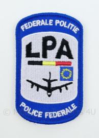 Belgische Politie Police Federale Politie LPA Luchtvaartpolitie embleem - met klittenband - 9 x 5,5 cm
