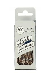 Barth schuhbandl veters bruin/khaki voor hoge schoenen - 200cm - NIEUW in verpakking - origineel