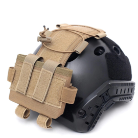 Tactical Night Vision contra weight  & Battery pouch voor MICH helm - COYOTE