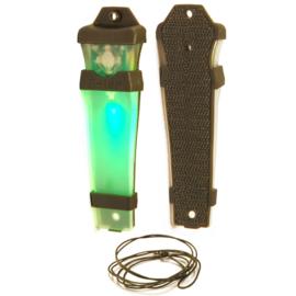 E-Lite EX240 Glow-In-The-Dark signalering met klitteband - groen, blauw of rood