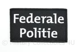 Belgische Federale Politie embleem - met klittenband  - 10 x  6 cm.