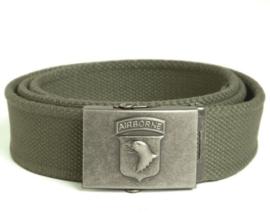 Broekriem met 101st Airborne logo -  groen