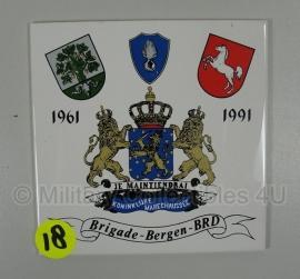 Tegel Koninklijke Marechaussee - Brigade Bergen BRD - 15 x 15 cm - origineel