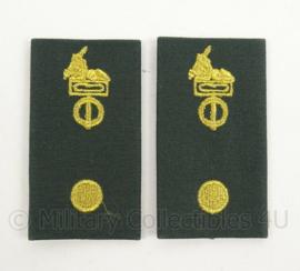 KL Landmacht DT2000 rang epauletten Korps/Regiment Adjudant - per paar - afmeting 5 x 9 cm - origineel