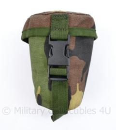 Nederlands leger veldtas voorzetlens - gevoerde tas MOLLE - 11 x 10 x 6 cm - origineel