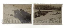 WO2 Duitse foto's Waffen SS gevechtseenheid - 8,5 x 6 cm - origineel