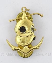 Marine Genie Duiker embleem - Zeldzaam - origineel