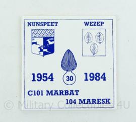 KMAR Marechaussee wandbord C101 Marbat 104 Maresk 1954-1984 - 15x15x0,3 cm -origineel