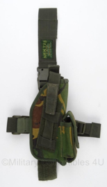 KL Nederlandse leger Drop Leg beenholster - woodland - Arktis - origineel