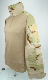 Nederlands leger commando's Desert camo tactical shirt UBAC licht gebruikt  - model met groot klittenband - Maat Large, XL of XXL - origineel