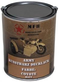 Verf literblik - Army Coyote mat RAL1011