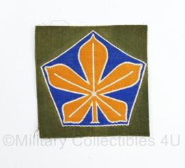 Defensie 5e Divisie kastanje blad embleem - 7 x 7 cm - origineel