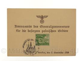 WO2 Document Amtsantritt generalgouverneurs besetzten Polnischen Gebiete - origineel