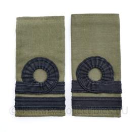 Korps Mariniers GVT epauletten - Kapitein der Mariniers - 11  x 5 cm - origineel