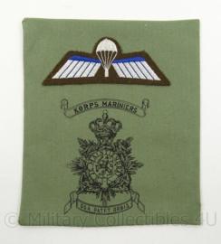 KM Marine Korps Mariniers borstzak logo met parawing - decoratie - afmeting 15 x 18 cm - origineel