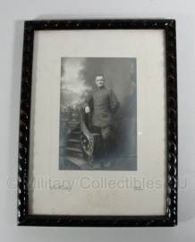 Foto in originele lijst WO1 officier- origineel