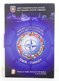 Turkse leger informatie brochure - Izmir - ATSTC -  NMLBD 1/IMOVPC NRF 11 - 14 x 22 cm - origineel