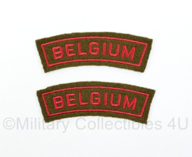 WO2 Britse leger Belgium shoulder title paar