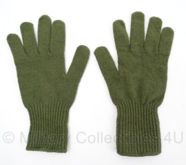 Leger groene wollen handschoenen - maat Medium  - origineel