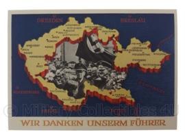 WO2 Duitse ansichtkaart postkarte zum 1 Mai GrossDeutschlands Wir danken unserm Fuhrer - origineel