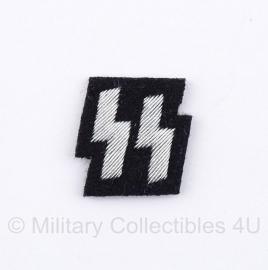 SS polizei Runen - klein model (2 cm. hoog) - zwart  / zilver