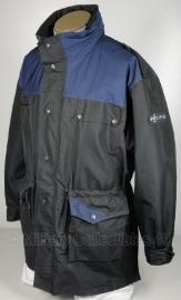 Politie parka two tone zwart/donkerblauw - Nederlands - origineel - maat L (art.nr. 129)