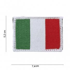 Uniform landsvlag Italie embleem STOF -  klitteband - 7,9 x 5,4  cm