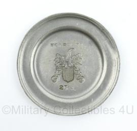 metalen wandbord van de bereden Politie 3P 25 jaar - diameter 10 cm - origineel