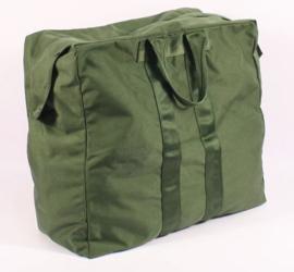 US Aviator`s kit bag Flyers Dodge bag Groen 27 x 57 x 51 cm. - origineel